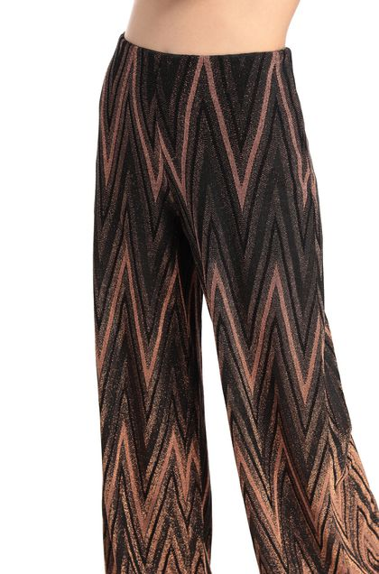 M MISSONI Pants Dark brown Woman - Front