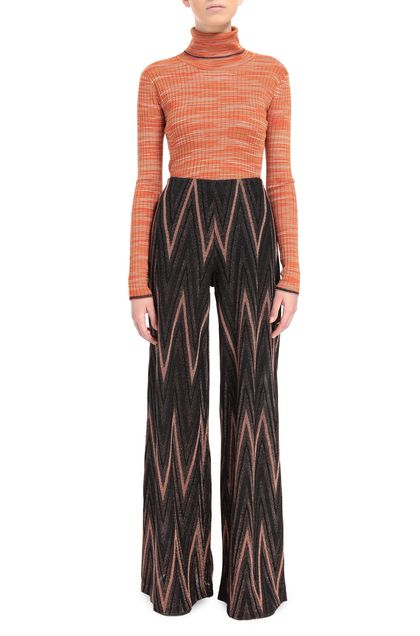 M MISSONI Pants Dark brown Woman - Back