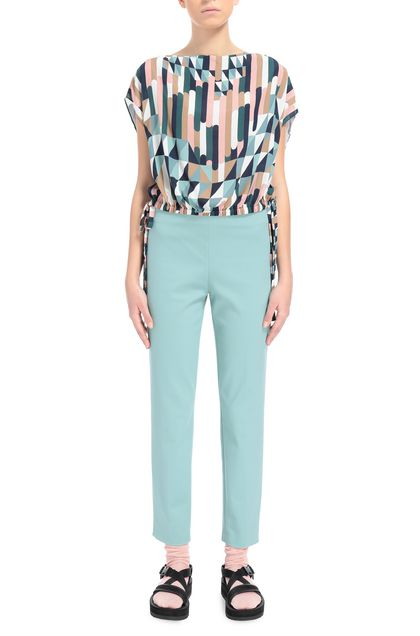 M MISSONI Pants Light green Woman - Back