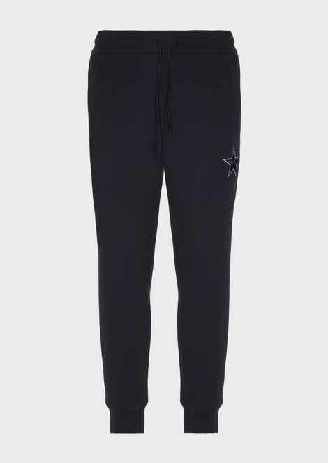 Jogging pants with star embroidery
