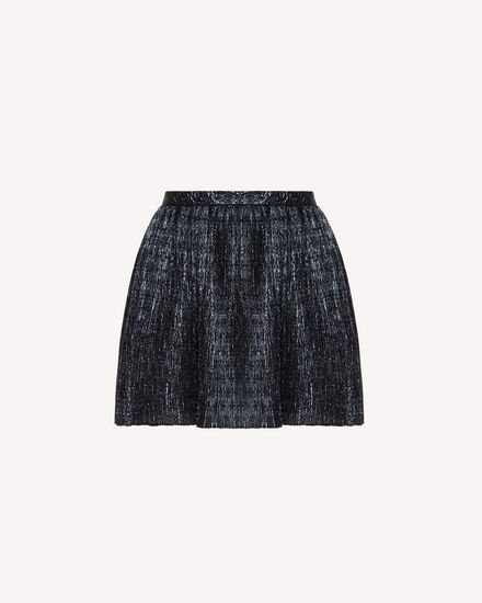 Lurex jacquard pleated shorts