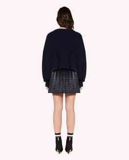 REDValentino  Lurex jacquard pleated shorts