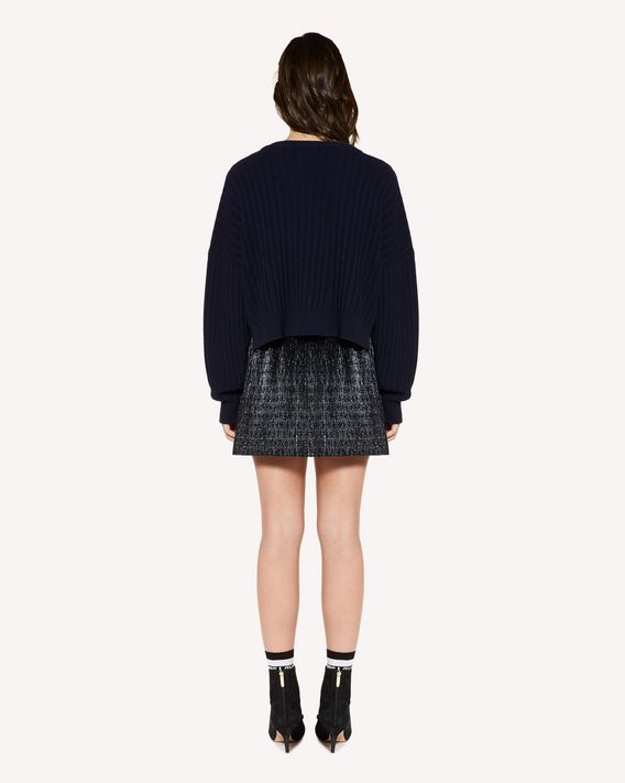 REDValentino Pleated lurex jacquard shorts