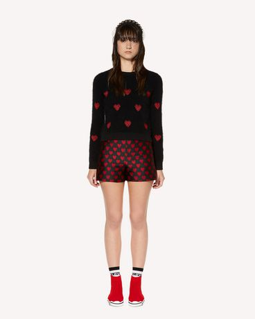 REDValentino Heart Brocade Shorts