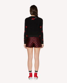 REDValentino Hearts brocade shorts