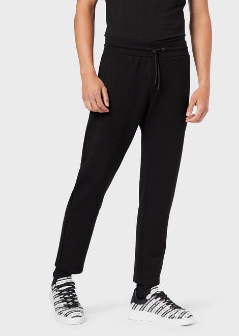 Stretch interlock-fabric jogging trousers