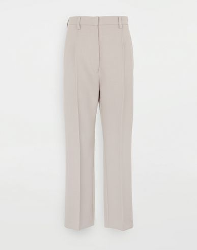 TROUSERS Tailored trousers Dove grey