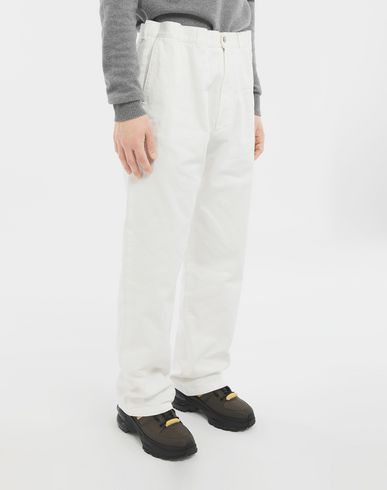 PANTS Puckered straight-leg  trousers White