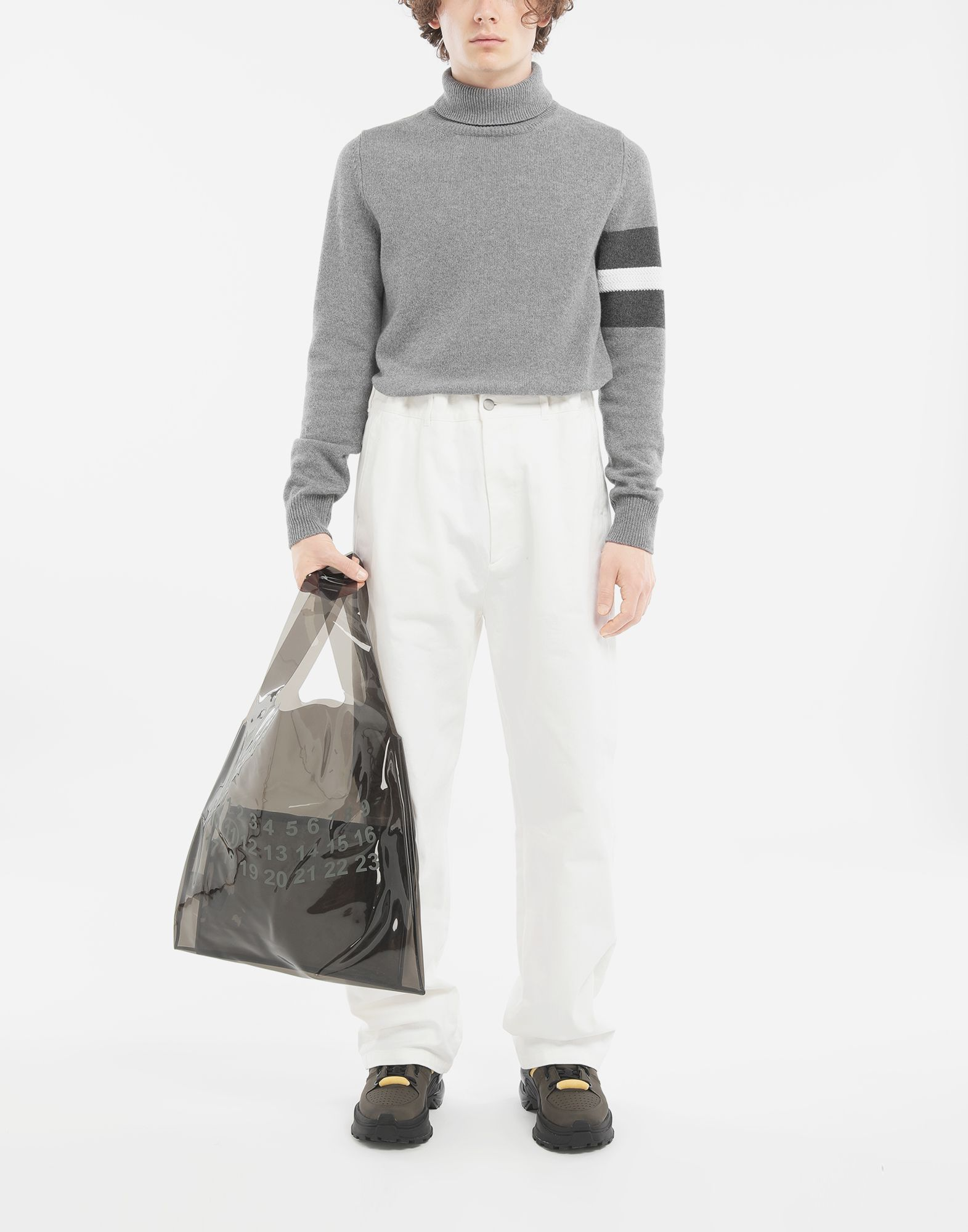 MAISON MARGIELA Puckered straight-leg  trousers Trousers Man d