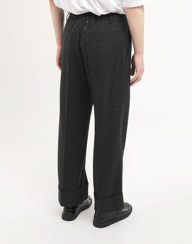 PANTS Turn-up trousers Steel grey
