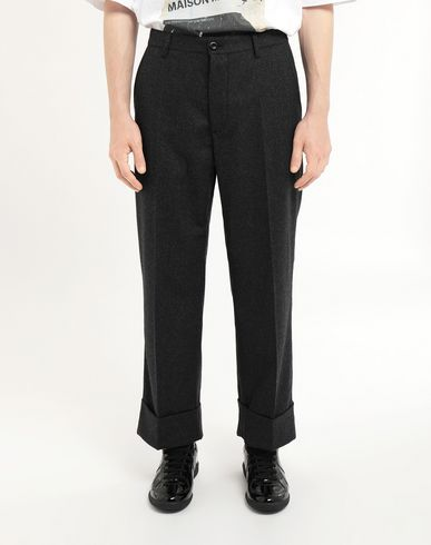 TROUSERS Turn-up trousers Steel grey