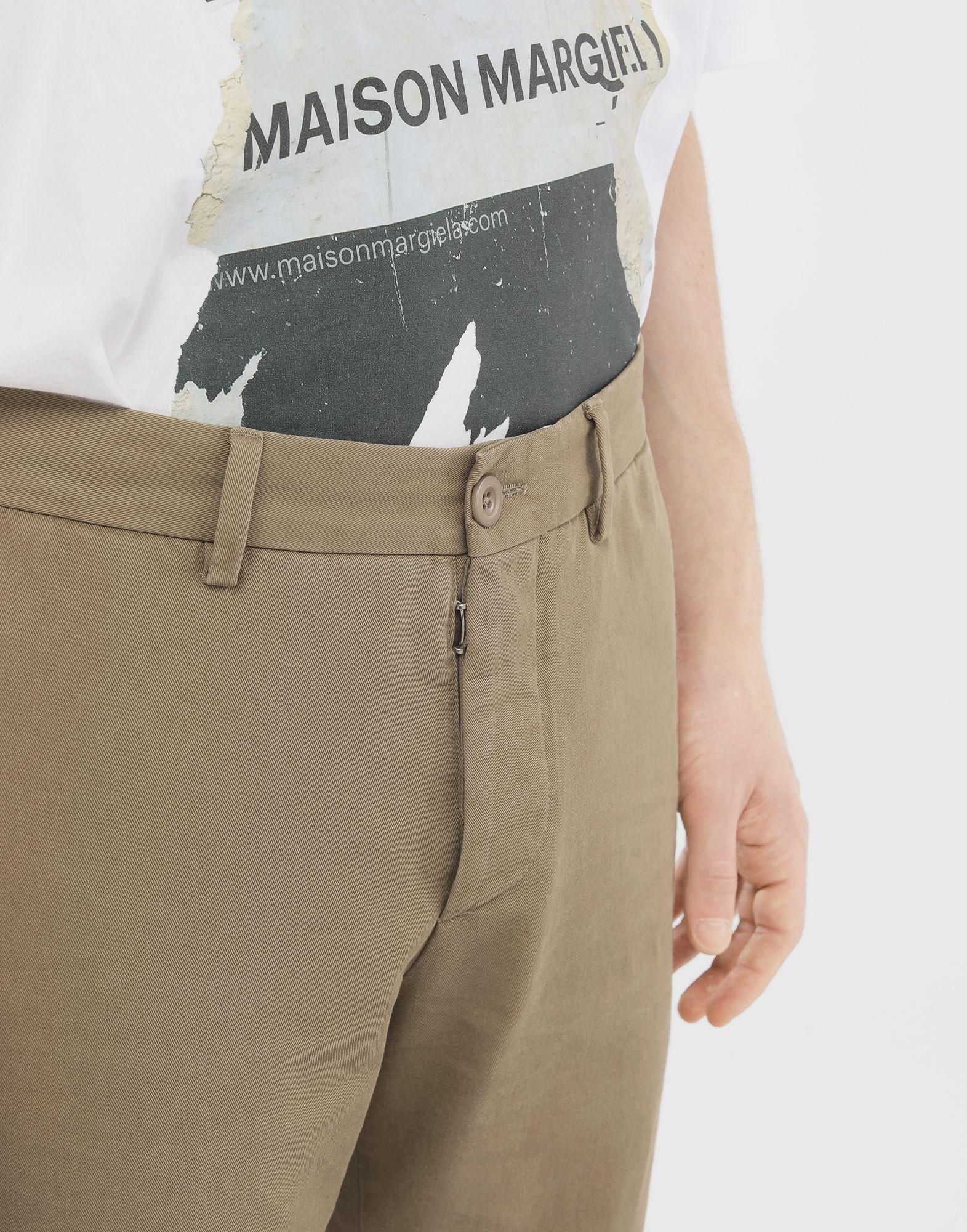 MAISON MARGIELA Cotton trousers Casual pants Man a