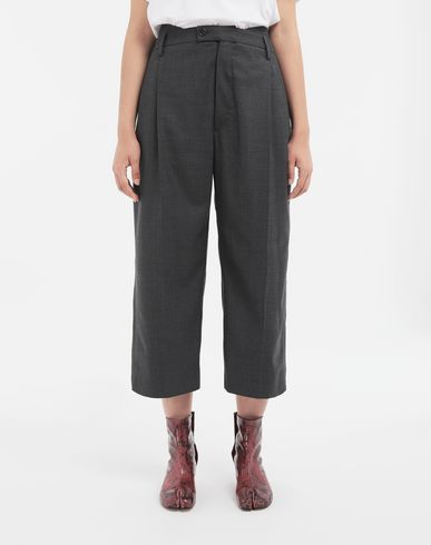 TROUSERS Spliced trousers Grey