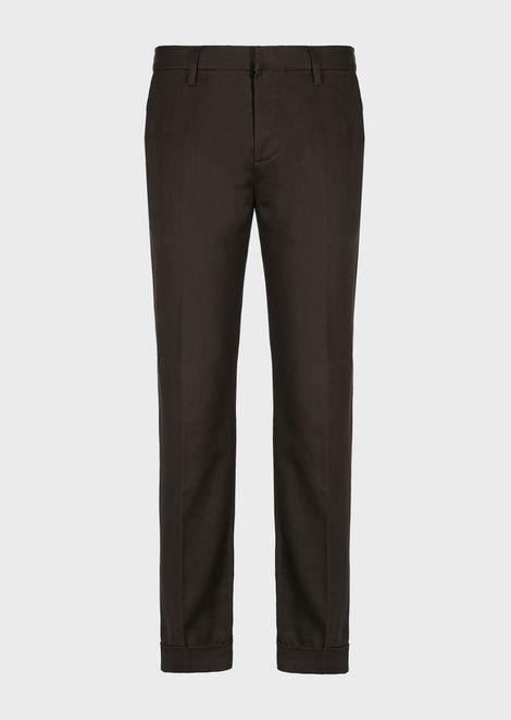 Chino trousers in gabardine