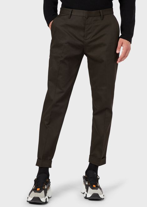 Chino trousers in gabardine