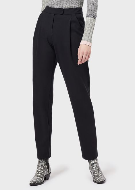 Darted Milano-stitch trousers