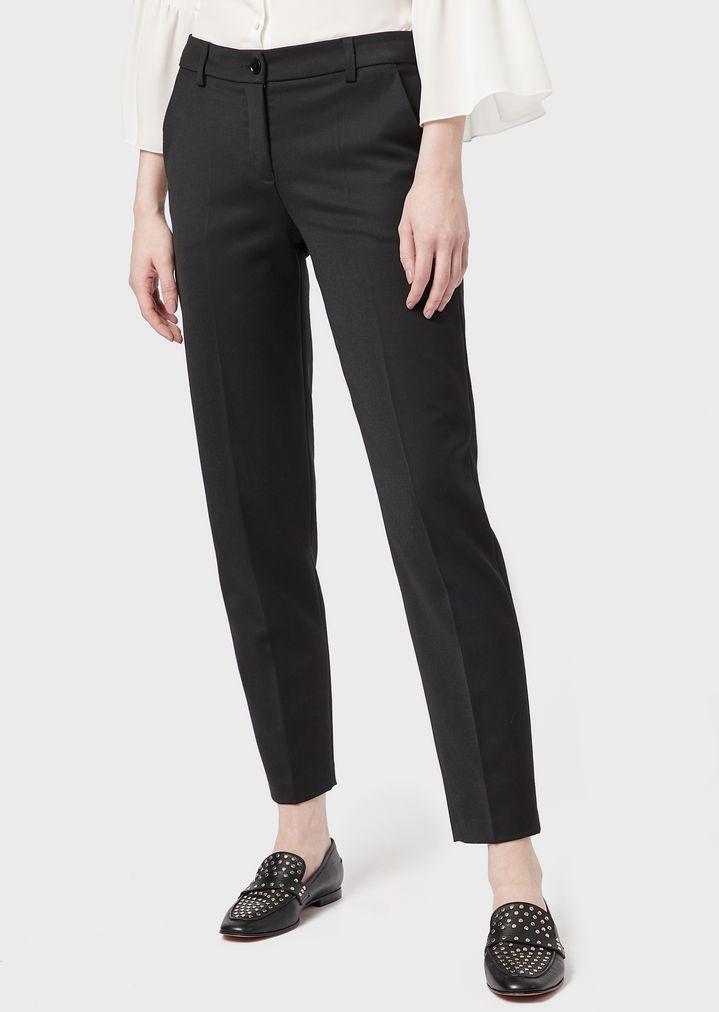 ecf5fce4a8 Cigarette trousers in gabardine-wool blend