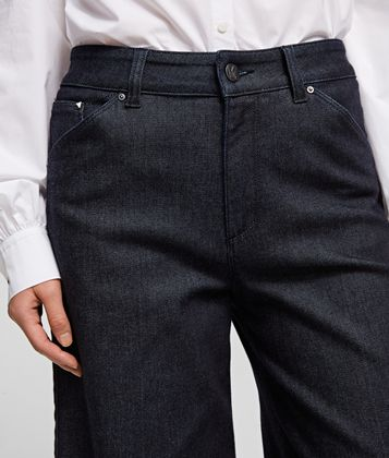 KARL LAGERFELD TAILORED DENIM CULOTTES