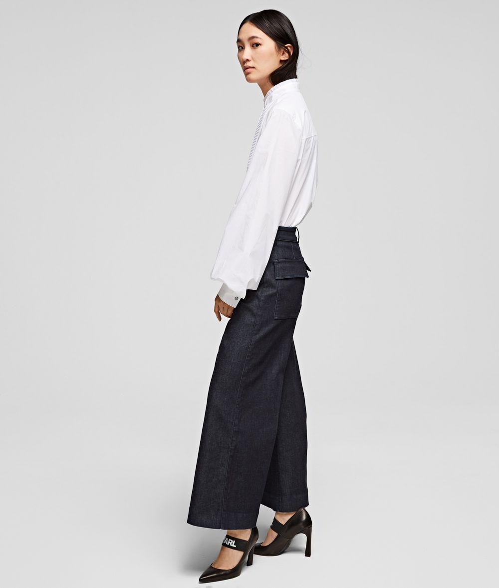 KARL LAGERFELD Tailored Denim Culottes Pants Woman d