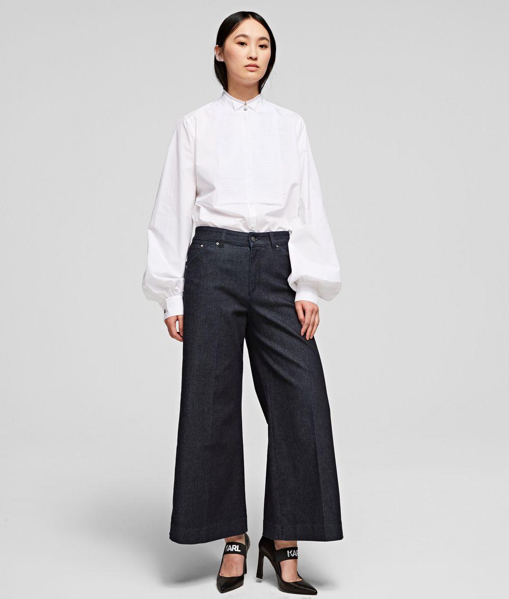 KARL LAGERFELD Tailored Denim Culottes Pants Woman f