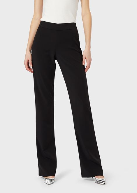 744b84c880 Mulberry silk palazzo trousers | Woman | Giorgio Armani