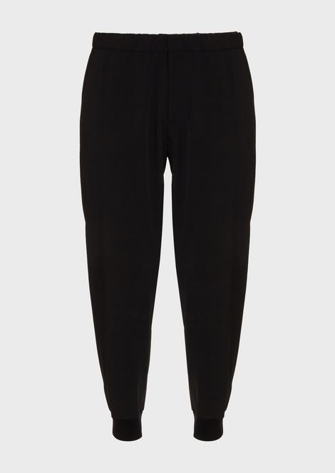 Jogging trousers in gabardine