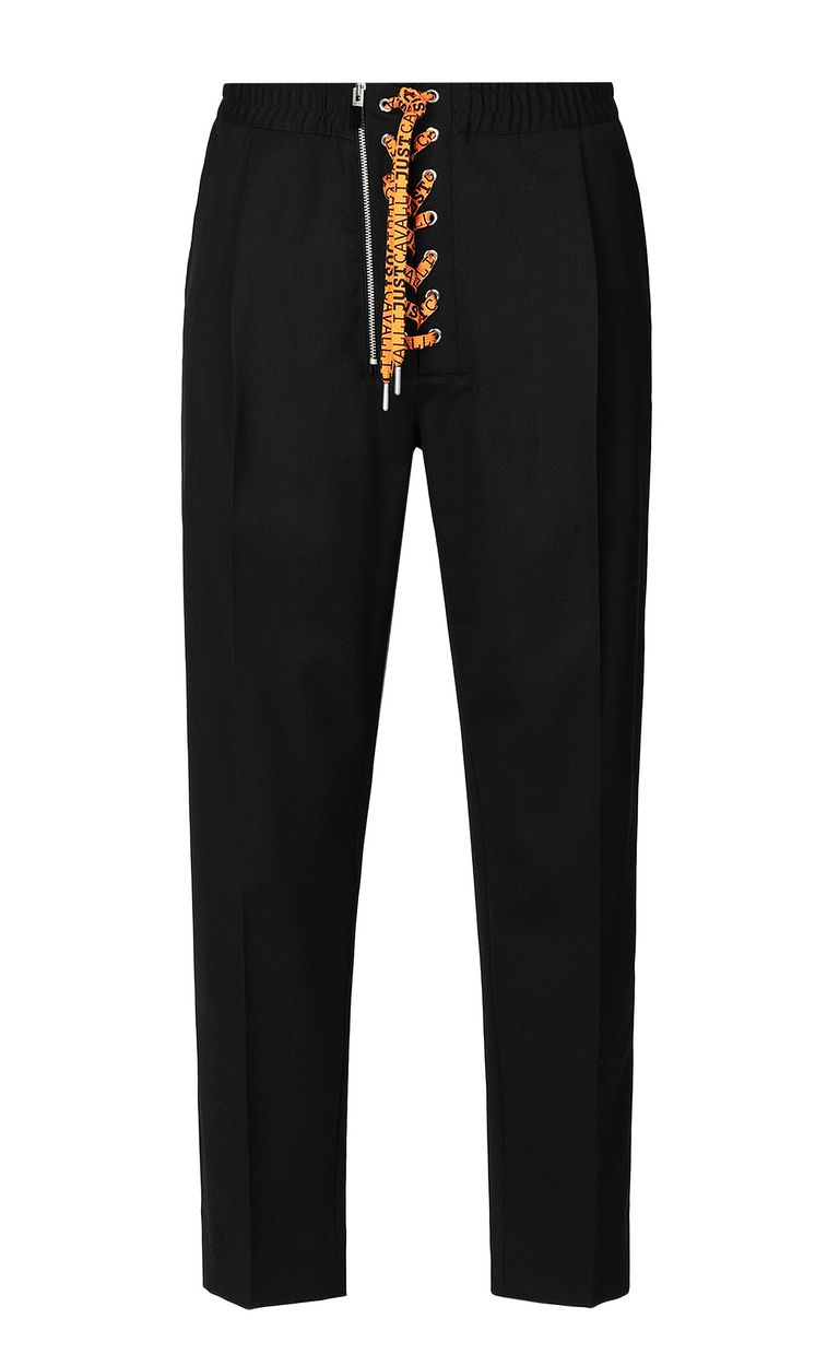 JUST CAVALLI Trousers with neon ties Casual pants Man f