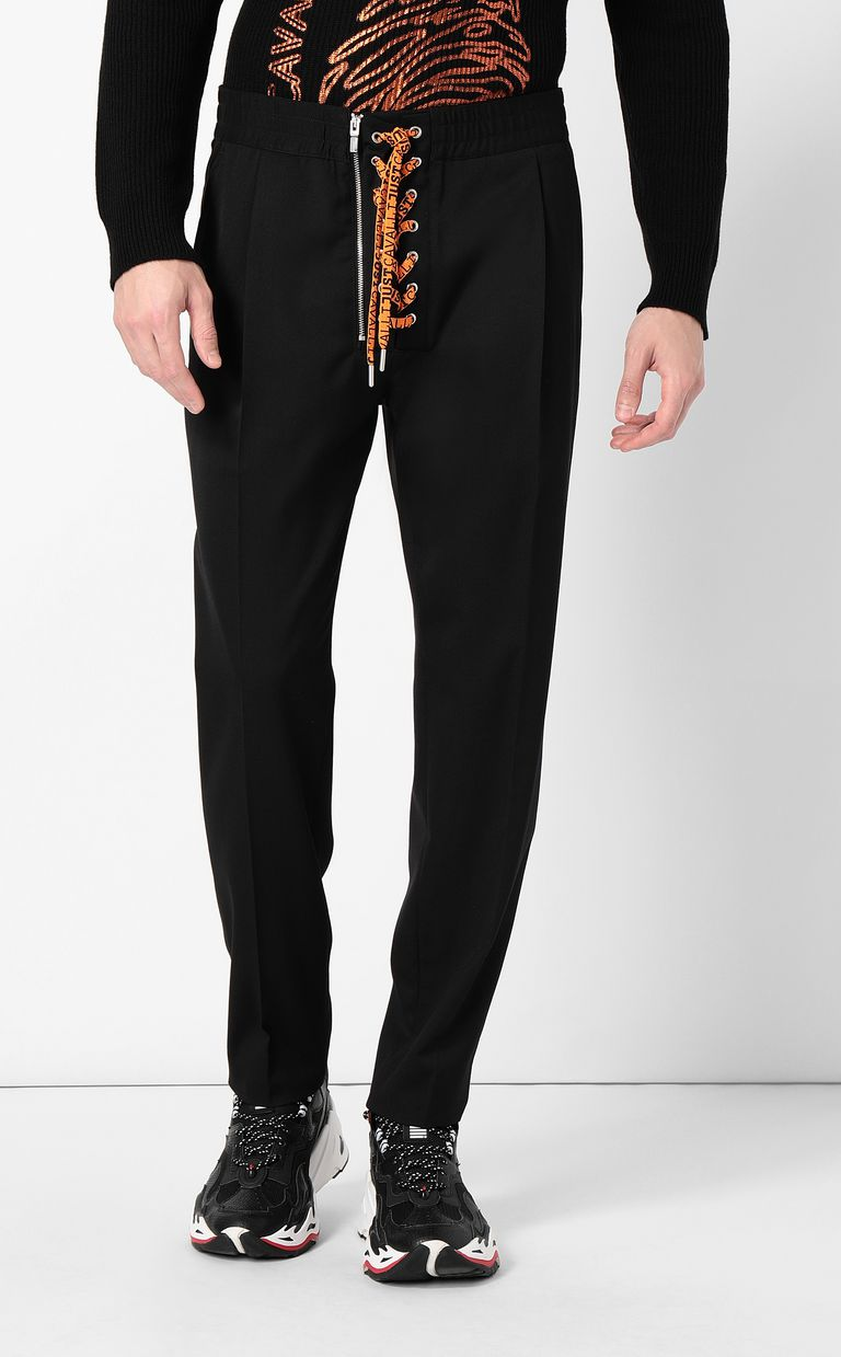 JUST CAVALLI Trousers with neon ties Casual pants Man r