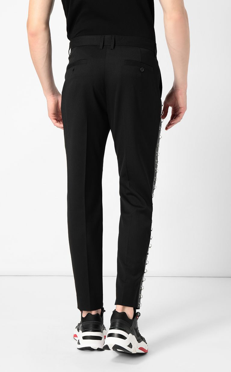 JUST CAVALLI Trousers with pierced details Casual pants Man a