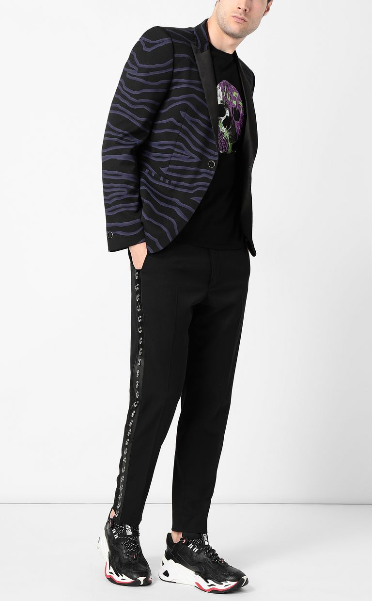 JUST CAVALLI Trousers with pierced details Casual pants Man d