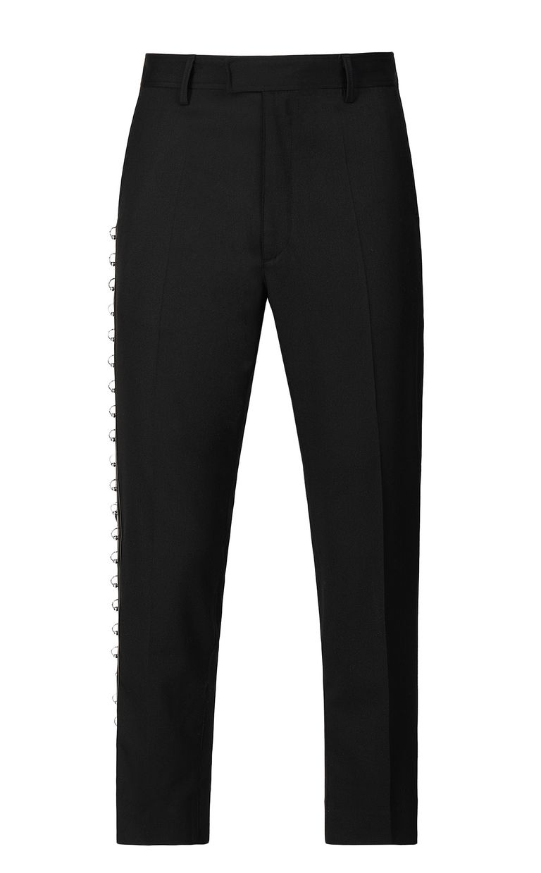 JUST CAVALLI Trousers with pierced details Casual pants Man f
