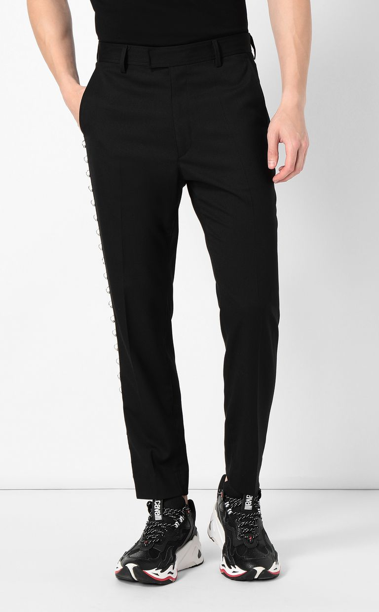 JUST CAVALLI Trousers with pierced details Casual pants Man r