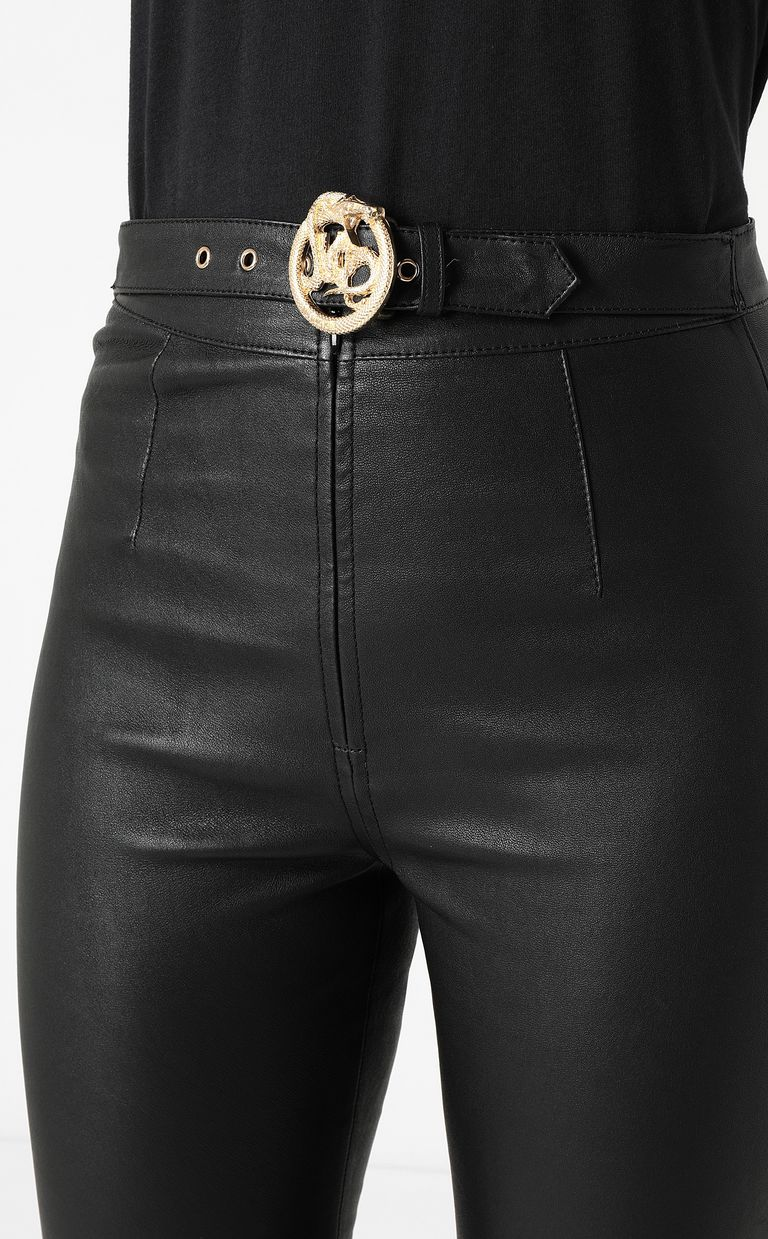 JUST CAVALLI Leather trousers Leather pants Woman e