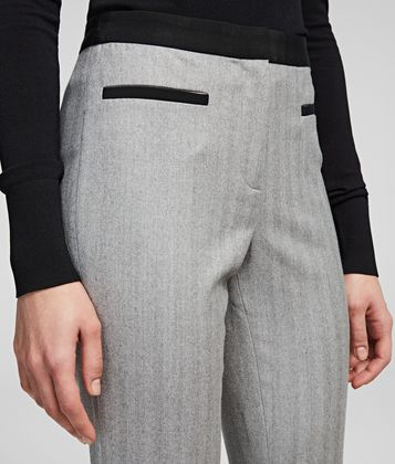 KARL LAGERFELD TAILORED WOOL BLEND PANTS