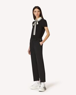 REDValentino Reps stretch-wool trousers with buckle details