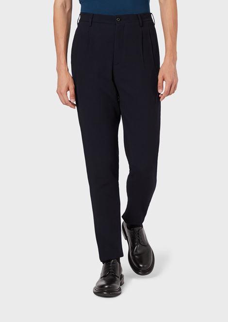 Pantalones con pinzas de ottoman