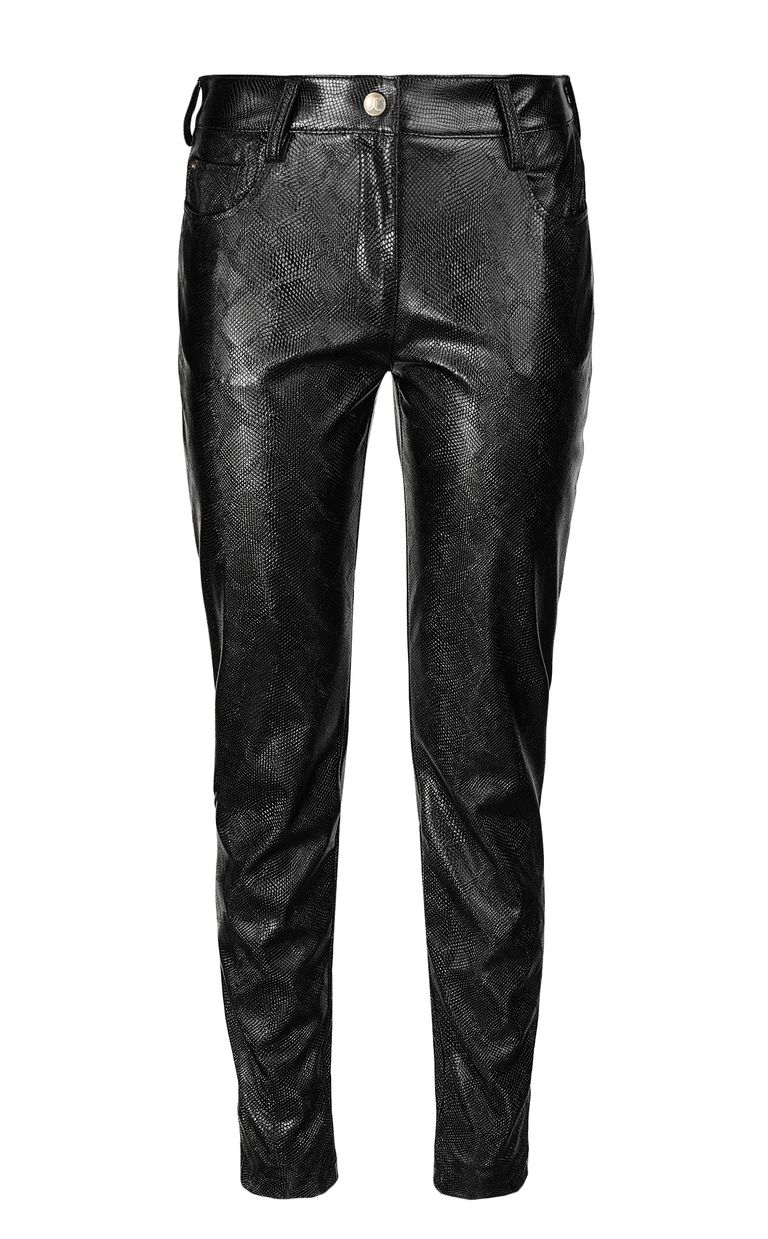 JUST CAVALLI Python-effect trousers Casual pants Woman f
