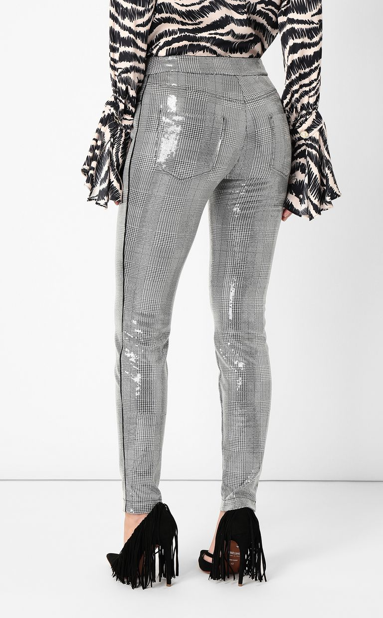 JUST CAVALLI Sequinned trousers Casual pants Woman a