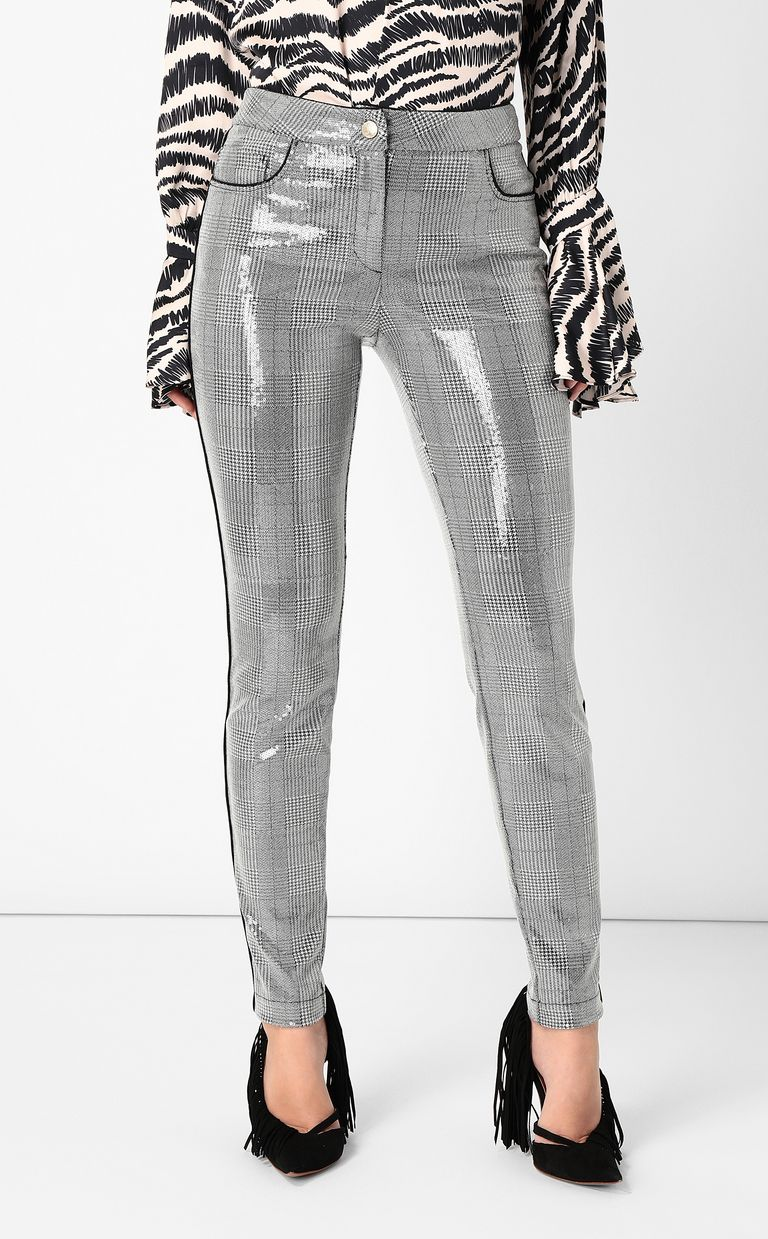 JUST CAVALLI Sequinned trousers Casual pants Woman r