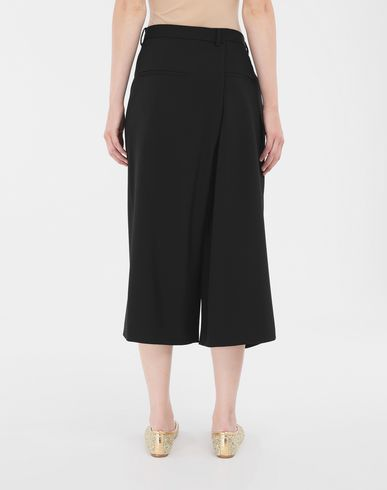 TROUSERS Reworked culottes Black