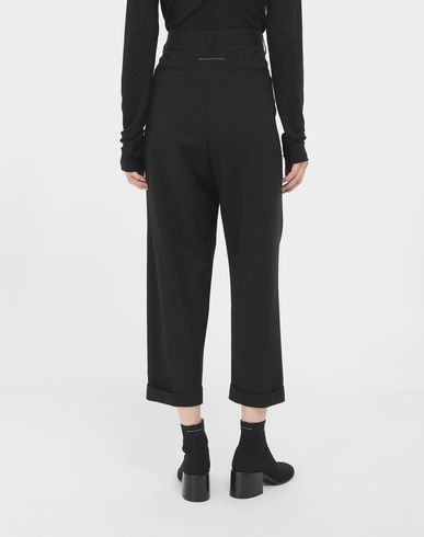 TROUSERS Tapered trousers Black
