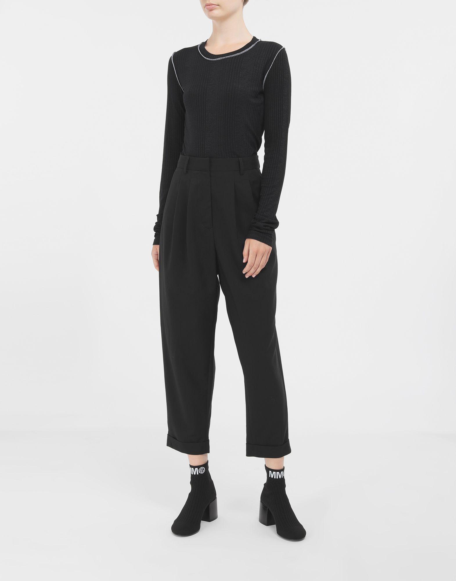 MM6 MAISON MARGIELA Tapered trousers Trousers Woman d