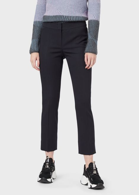 Stretch, grain de poudre cigarette trousers