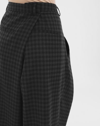 PANTS Reworked check culottes Grey