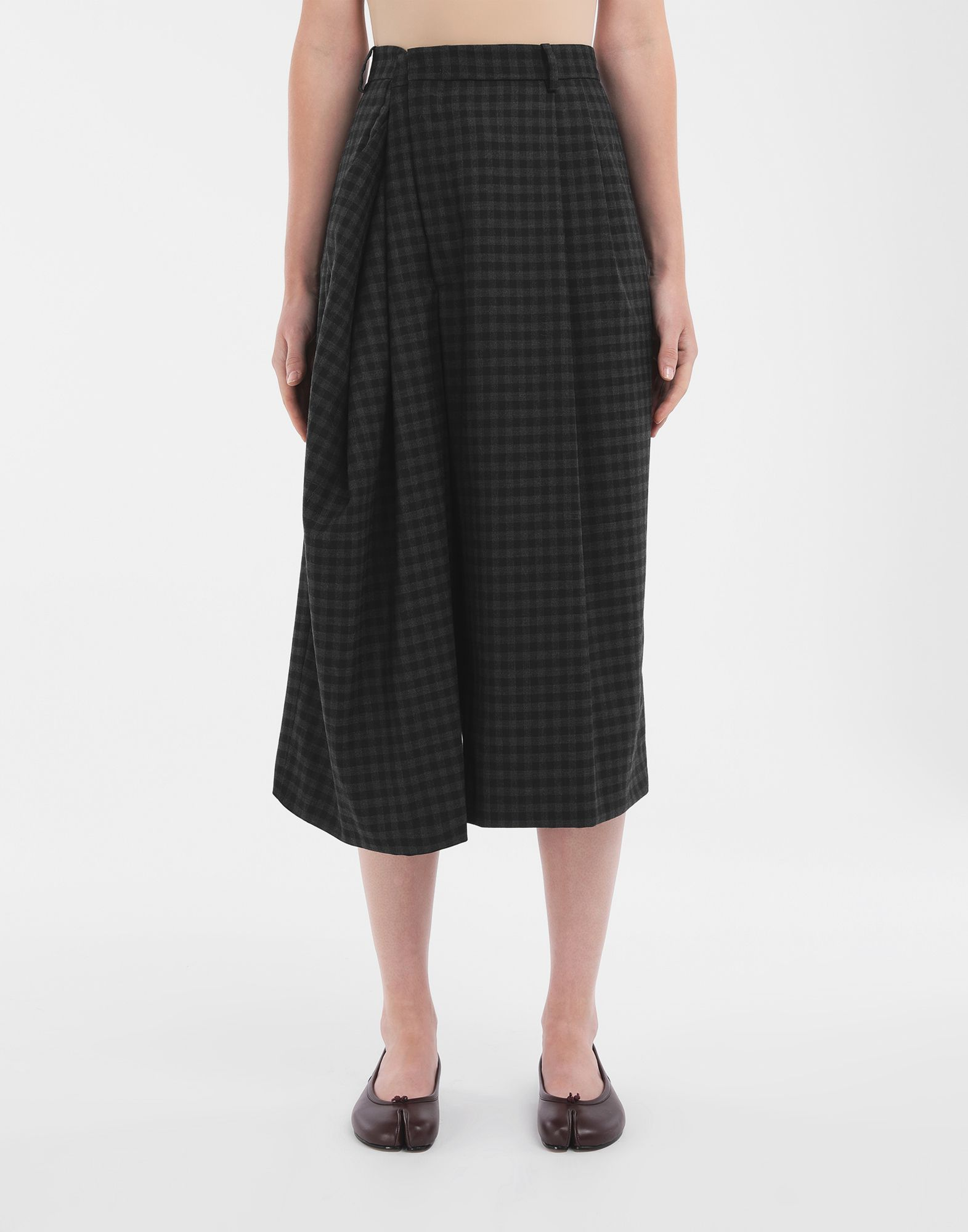 MAISON MARGIELA Reworked check culottes Shorts Woman r