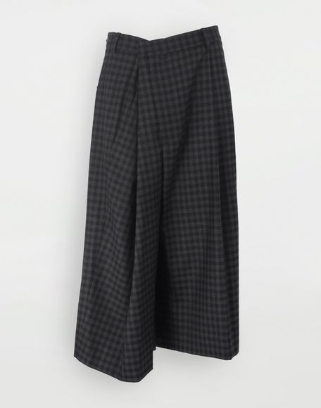 MAISON MARGIELA Reworked check culottes Shorts Woman f