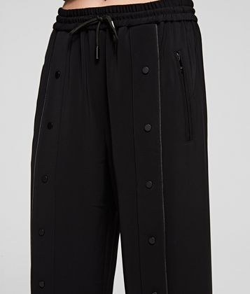 KARL LAGERFELD WIDE LEG SNAP PANTS