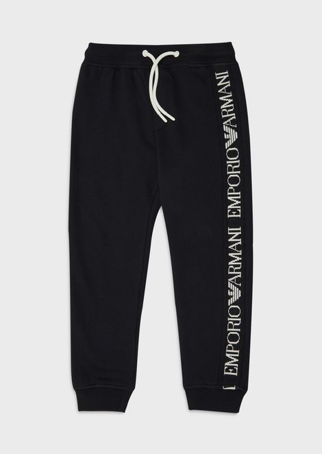 Jogging trousers with logo band