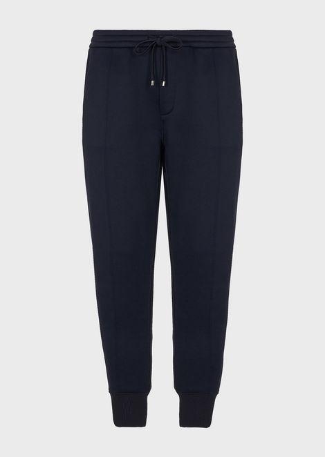 Brushed-fleece jogging sweatpants with a velvet back pocket