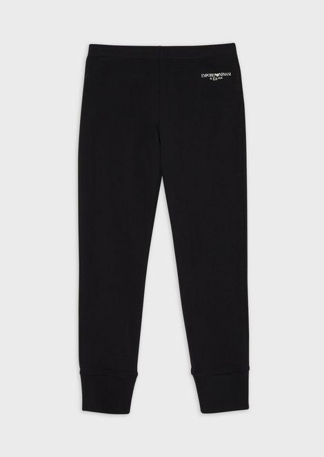 Logoed, stretch jersey leggings